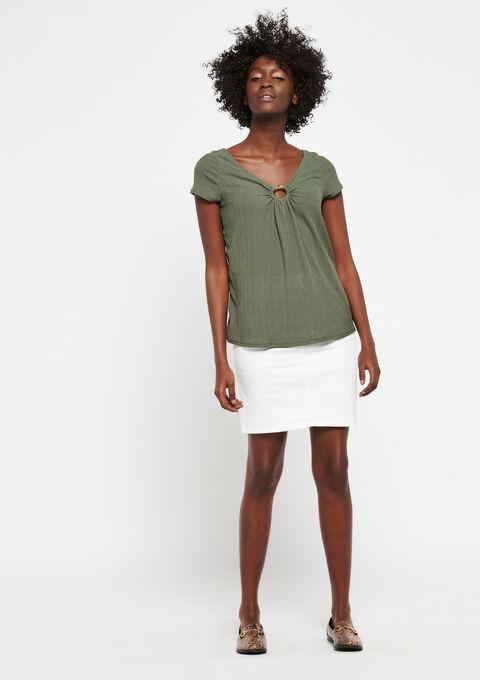 T-shirt, v-uitsnijding hals en rug - KHAKI CLIMBING - 02300367_4203