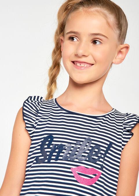 T-shirt met korte mouwen en print - IVORY WHITE - 902924