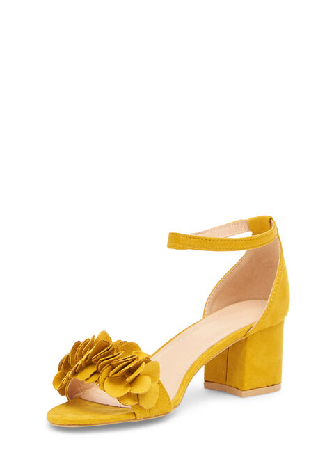 Sandalen met blokhak - LEMON CURRY - 13000459_1237