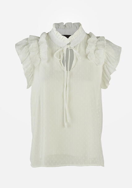 Blouse met ruches - NATURAL WHITE - 05701466_2510