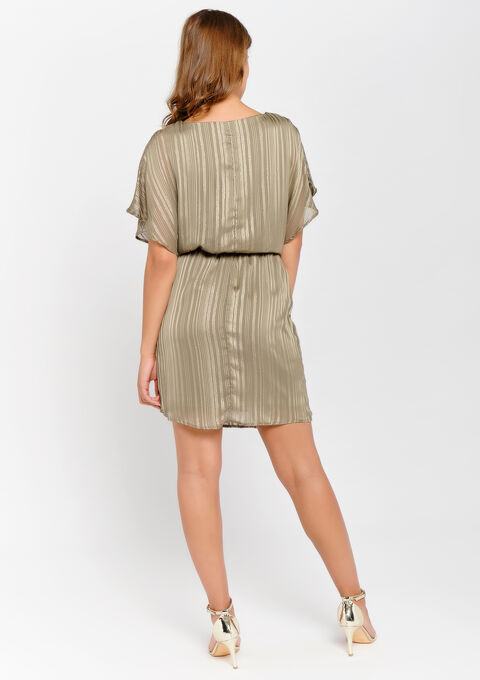 Mini jurk met halsketting - KHAKI DARKY - 08100703_4208
