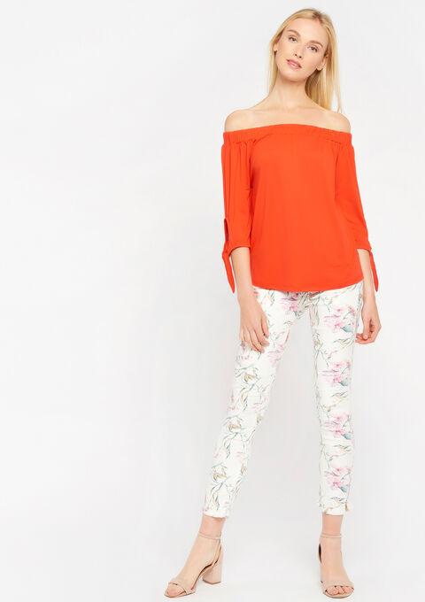 Carmen t-shirt - FLAME RED - 02300229_1398