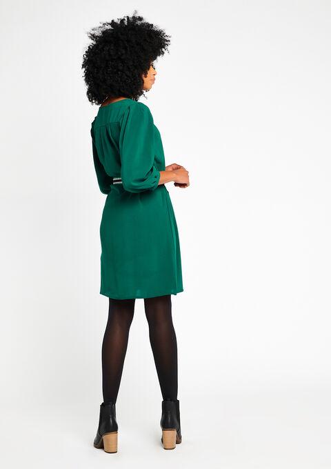 Effen jurk met lurex-riem - FOREST BIOM - 08100169_4502