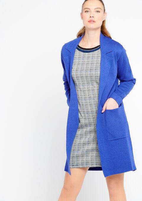 Lange cardigan -COATIGAN - PERSIAN BLUE - 04800210_1608