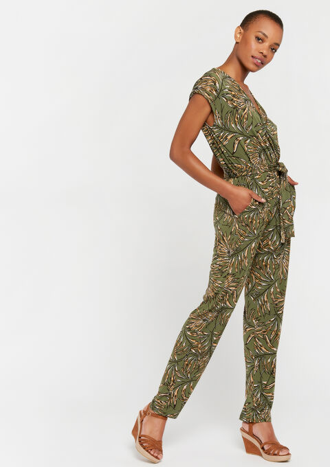 Jumpsuit bloemenprint - KHAKI DARKY - 06003870_4208