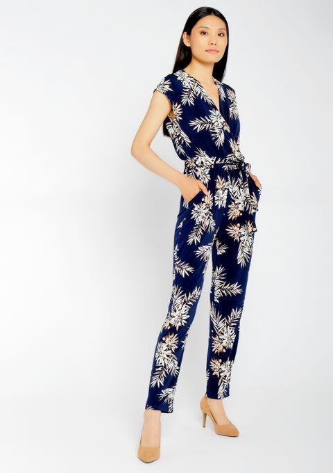 Jumpsuit bloemenprint - NAVY SHADOW - 967349