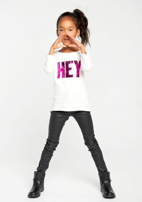 T-shirt met lovertjes - IVORY WHITE - 02005587_1011