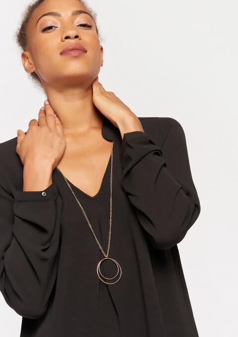 Blouse avec collier - BLACK - 05700404_1119