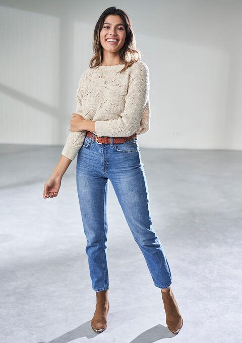 Mom jeans - MEDIUM BLUE - 22000190_500