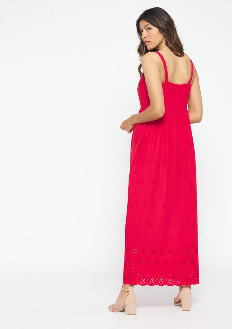 Jurk met borduurwerk - RED PAVOT - 08100538_5307