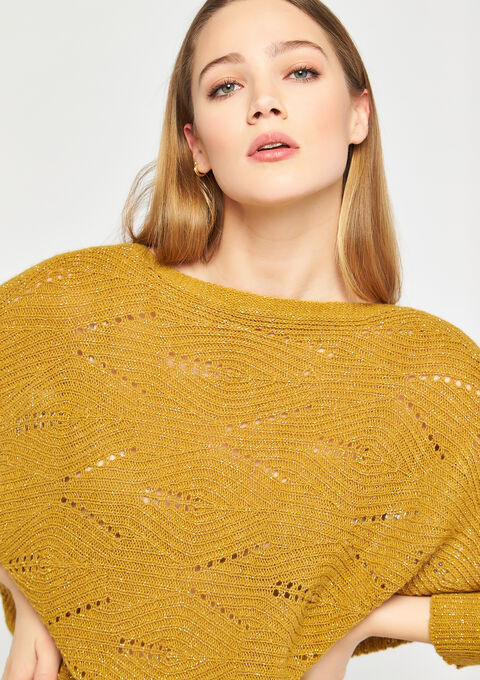 Open-knit sweater - YELLOW MINERAL - 04005138_1222