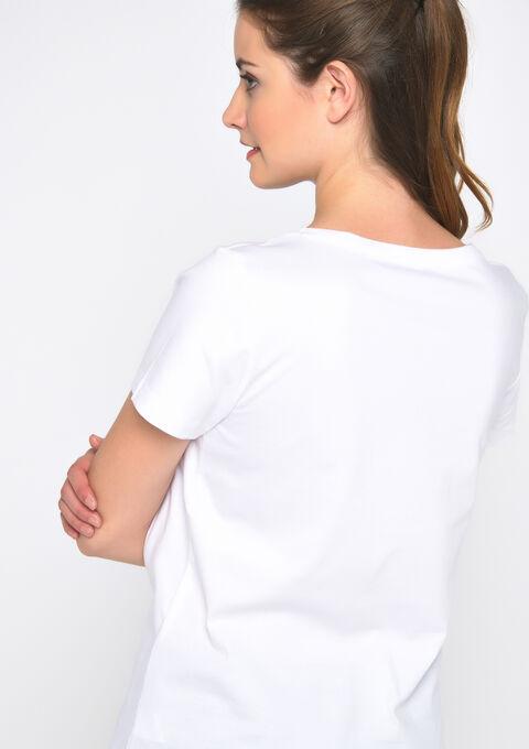 T-shirt imprimé texte - OPTICAL WHITE - 02300467_1019