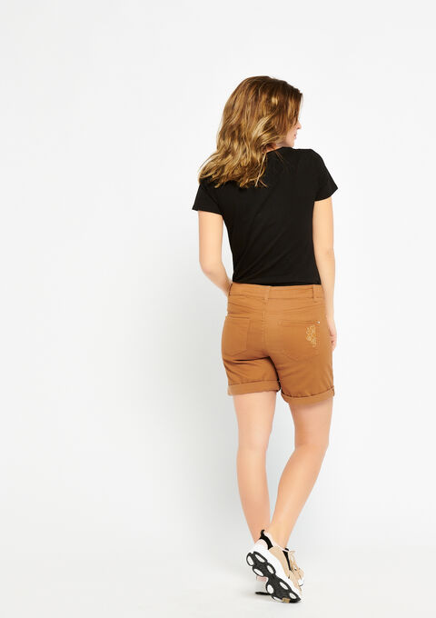 Short met borduursel - CAMEL TRUSH - 06100178_3808