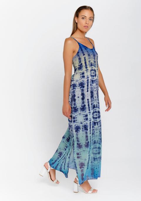 Maxi robe tie and dye - INDIGO - 08600956_10