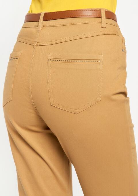 Pantalon slim, taille haute - CAMEL ALMOND - 06003764_3807