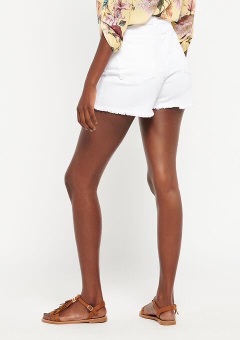 Jeansshort met knoopsluiting - IVORY WHITE - 22000133_1011