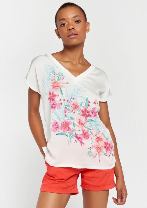 T-shirt korte mouwen - WHITE ALYSSUM - 02300407_2502