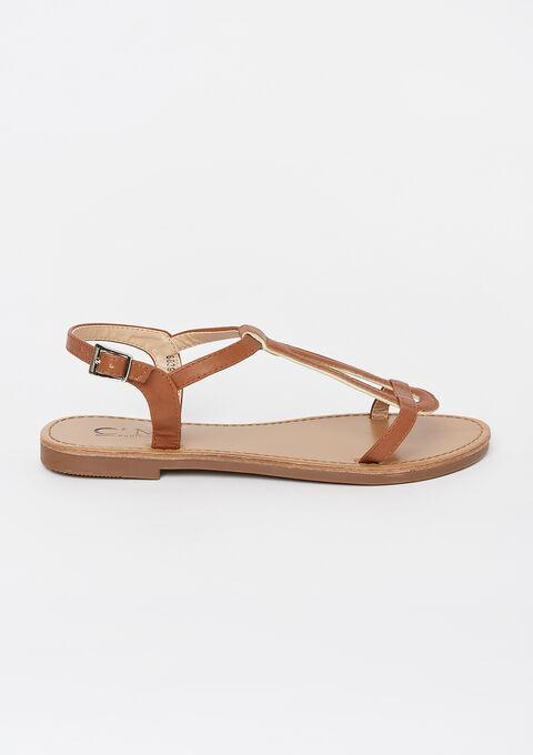 Flat sandals - CAMEL TRUSH - 13000454_3808