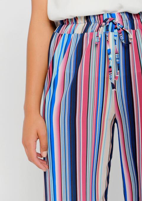 Pantalon fluide multicolore - ELECTRIC BLUE - 06600124_1619