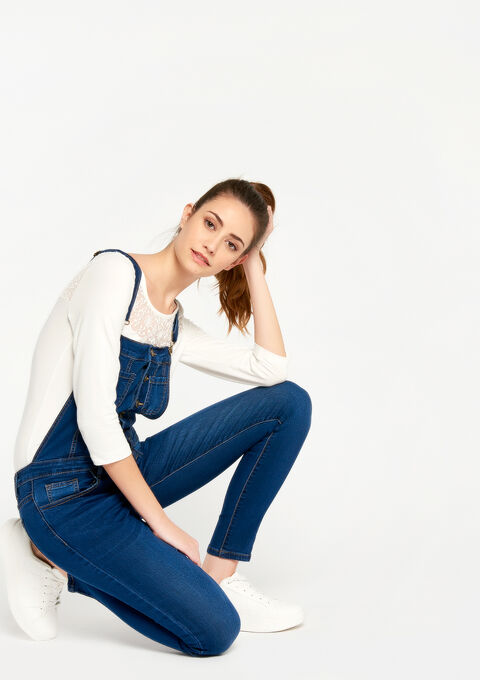 Salopette in jeans - BLUE DENIM - 22000090_1638
