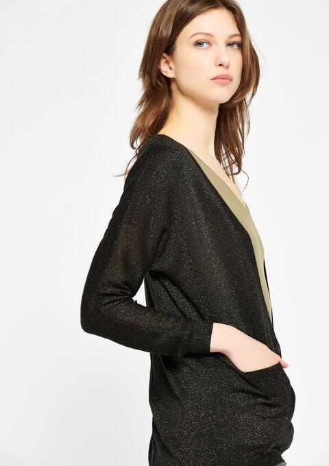 Basic cardigan - BLACK - 04100584_1119