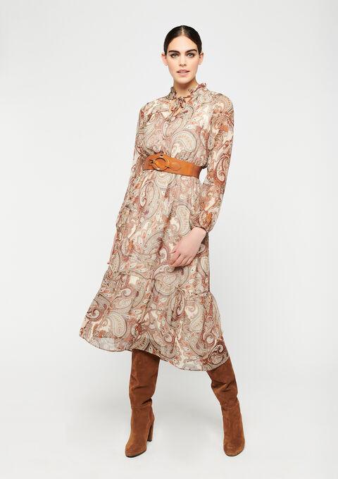 Robe imprimé paisley - BEIGE BISCUIT - 08601071_4018