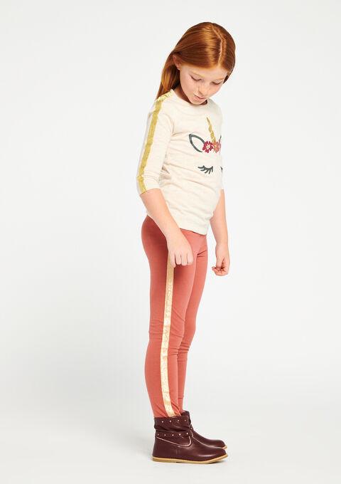Legging met streep opzij - PINK GINGER - 06003620_5609