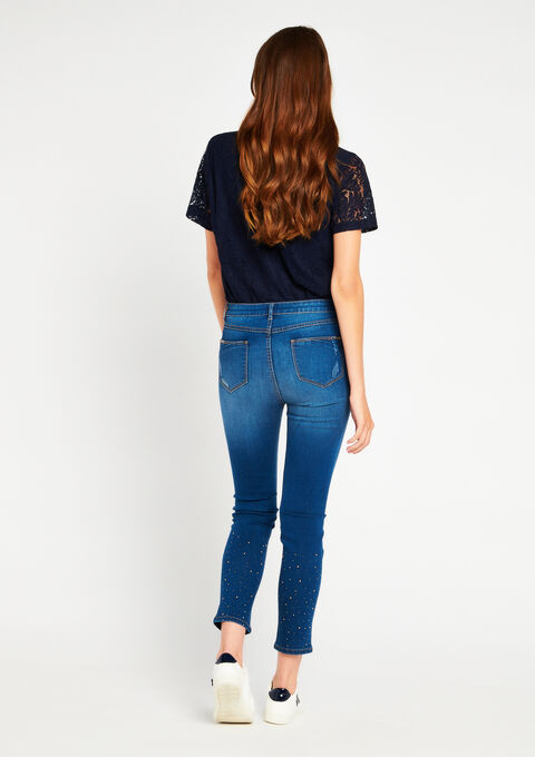 Jeans met strass - BLUE DENIM - 06003544_1638