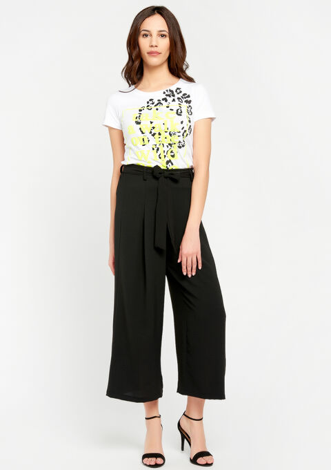 T-shirt met opdruk, fluo details - WHITE ALYSSUM - 941927