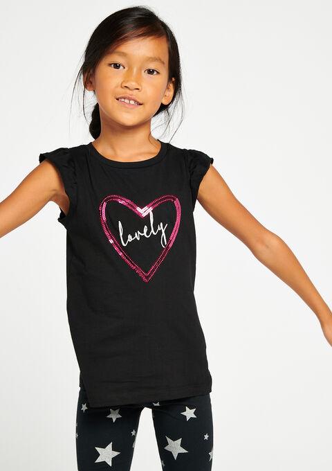 T-shirt met lovertjes - BLACK - 02300013_1119