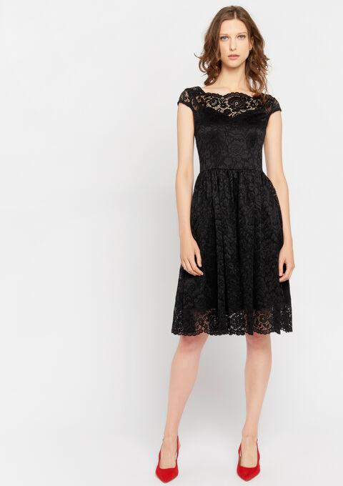 Robe de soirée en dentelle - BLACK - 08101552_1119