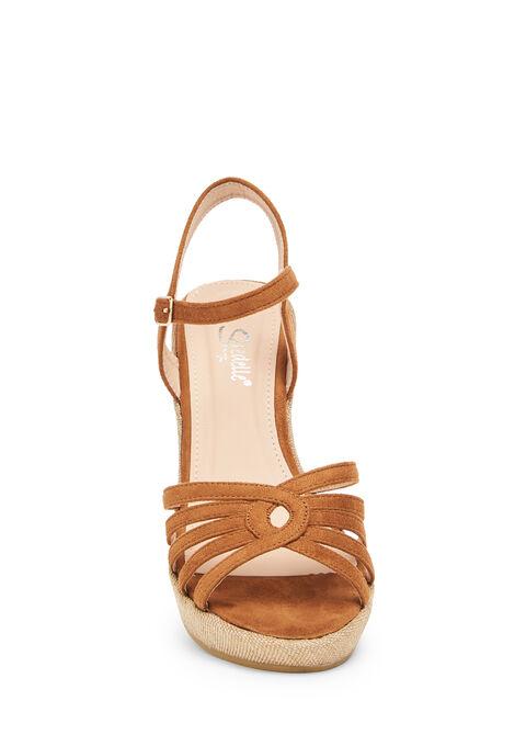 Wedged sandals - CAMEL BEIGE - 13000445_1132