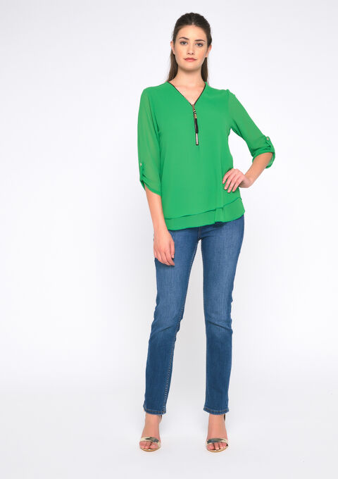 Blouse met rits - GREEN FORESTRY - 05700600_1773