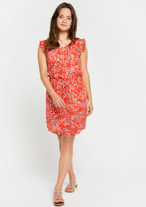 Robe mini imprimé - FLAME RED - 08101194_1389