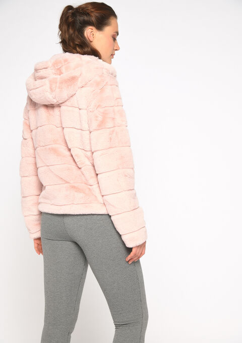 Korte mantel in imitatiebont - PINK LOTUS - 23000100_1331