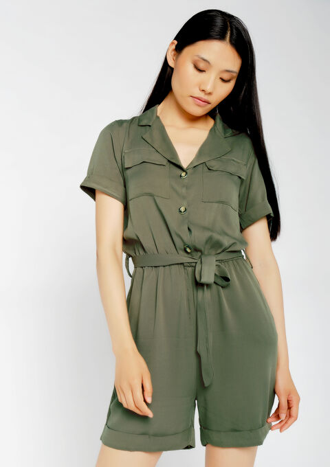 Cargo playsuit - KHAKI ARMY - 06003973_4314