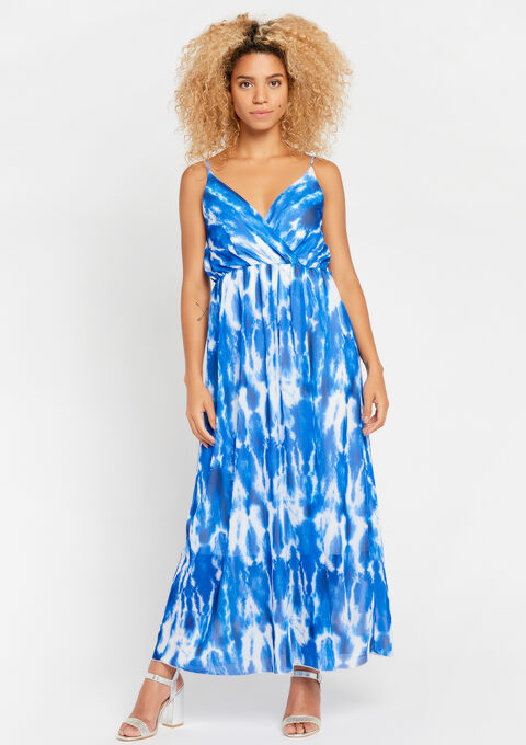 Robe tie dye,  fines bretelles - BLUE QUARTZ - 08600437_2804