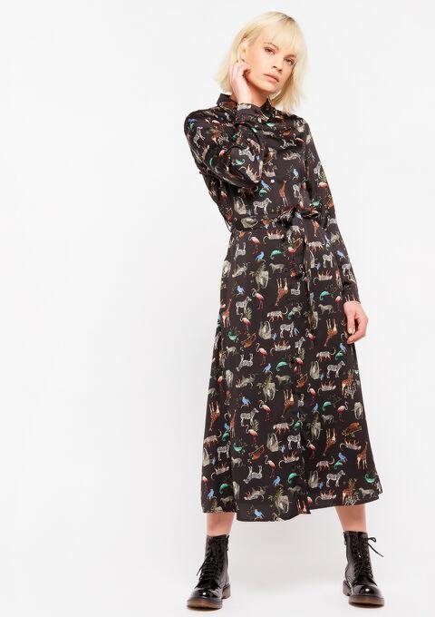 Maxi hemd jurk - BLACK - 08601007_1119