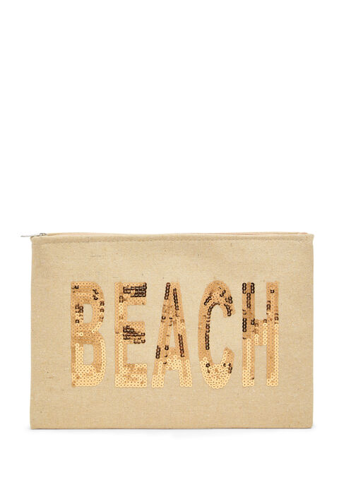 Shopper 'life is a beach' + small bag - LIGHT BEIGE MEL - 939438