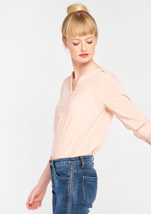Effen blouse - EVENING SAND - 05003471_5807