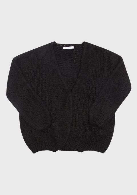 Open Cardigan - BLACK - 04100616_1119