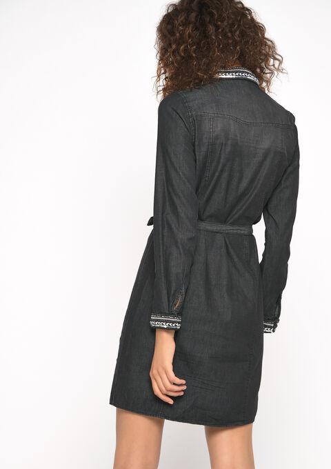Hemd jurk - BLACK - 08101575_1119