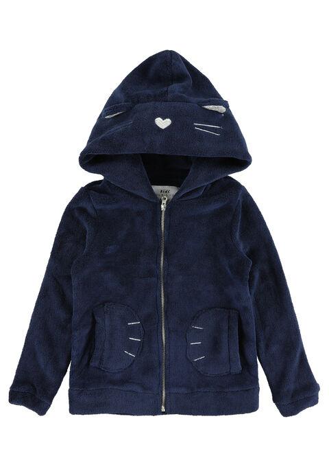 Fleece POES met kap - NAVY MARINE - 03001194_1650