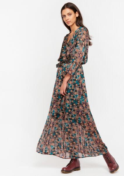Robe cache-coeur imprimé fleurs - BLUE CANARD - 08601050_3204