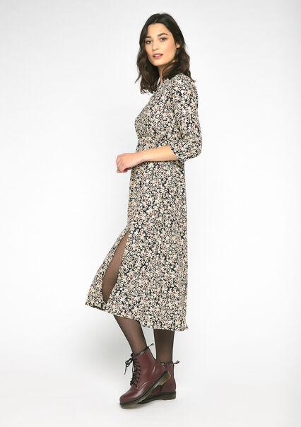 Robe imprimé fleurs - BLACK - 08101686_1119
