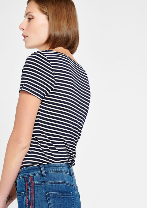 T-shirt met strepen & korte mouwen - NAVY HEAVEN - 02300084_2711