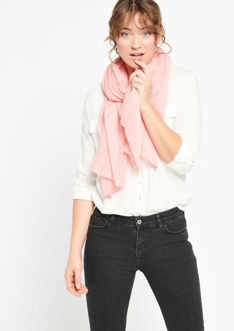 Pleaded scarf - PINK ROSEA - 933932