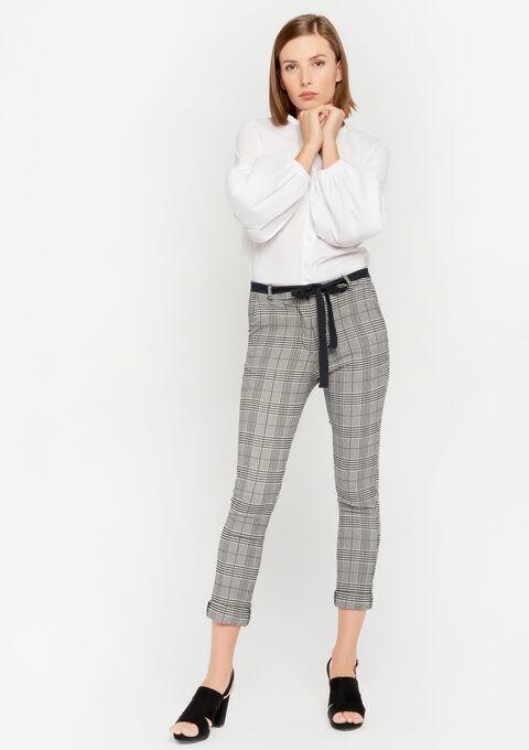 Pantalon à carreaux Prince de Galles - BLACK - 06100225_1119