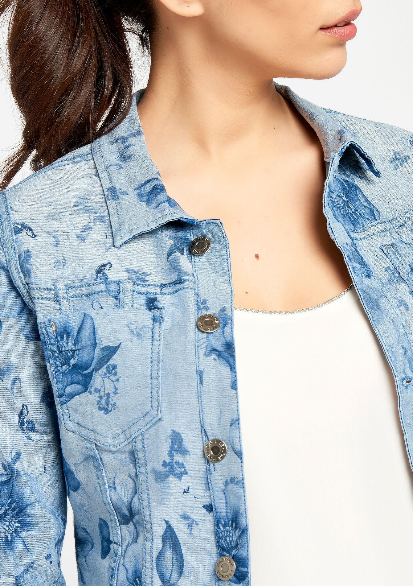 Omkeerbare vest in jeans - MEDIUM BLUE - 09100173_500
