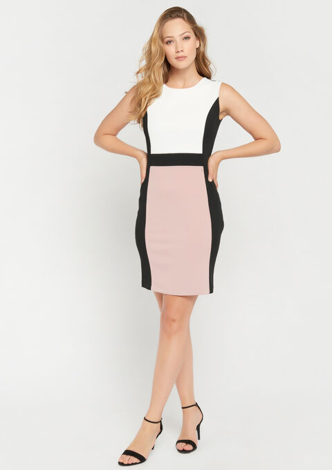Robe color block - BLACK / PINK - 08101602_2602